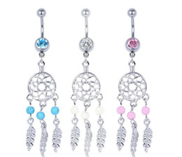 Wholesale 0432 mix colors styl belly ring belly ring style dream catcher style Rings Body Piercing Jewelry Dangle Accessories Fashion Charm