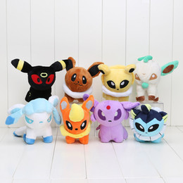 Wholesale Poke Pikachu Movie Pocket Styles inch Umbreon Eevee Espeon Jolteon Vaporeon Flareon Glaceon Leafeon Plush Toys stuffed dolls