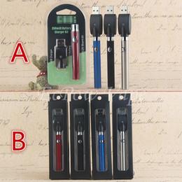 Top Quality LO Battery Ecig Pre-heating VV E Cig Vape Starter Kit CO2 Oil Cartridge Vaporizer Ecigarette Black Box OR Semicircle Blister