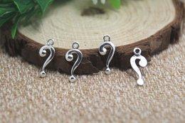 Wholesale 60pcs question mark Charms Antiqued Silver Tone question mark charm pendants x7mm