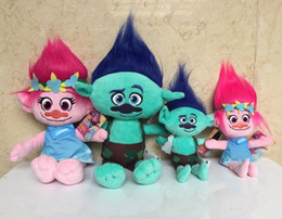 Mega tv en Línea-23cm / 36cm Magic Elf Stuffed Toy DreamWorks 3D Película Trolls Mega Ciudad Enchanted Fairy La buena suerte Trolls Ogres Poppy Branch peluche de juguete