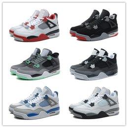 Wholesale Retro Basketball Shoes Men Cheap J4 IV Boots Authentic Online For Sale Sneakers Mens Sport Shoes Size