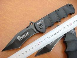 Wholesale Drop shipping Boker Survival folding blade knife C HRC Black oxide blade aluminum alloy Handle knife outdoor Survival Pocket knives