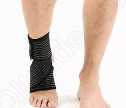 Wholesale Sports Safety Ankle Support Protection Ankle Foot Bandage Elastic Brace Guard Support winding ankle guard colors OOA322
