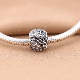1 pcs   lot S925 pure silver charm bead bracelet luxury European fashion jewelry DIY bracelets