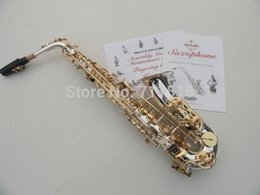 Gros-Marque SUZUKI Saxophone alto plaqué instruments de musique saxophone alto chute Tune E (F) surface d'argent / or clés Sax SAX-400S eb key on sale à partir de clé eb fournisseurs