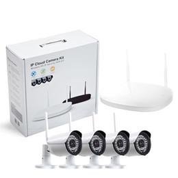 Wholesale CCTV Camera IP Wireless Wifi CH Outdoor HD P NVR System MP IR Outdoor P2P IP Camera Security System Surveillance Kit