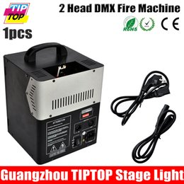 Wholesale Freeshipping TIPTOP Head DMX Fire Machine W Fire Oil Jet Nozzle Meter Project Distance V V Stage Effect Machine