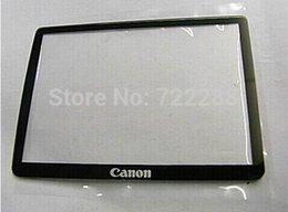 Wholesale Al por mayor SLR digitales EOS partes de la cámara Rebel T2i EOS Kiss X4 Digital D LCD de pantalla externo del panel protector de vidrio de protección para Canon