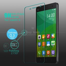 Tempered Glass for Xiaomi Mi 4 M4 Mi4 Screen Protective Film High Quality Screen Guard Protector + Valid Tracking Number