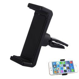 Promotion vent mount gps Gratuit DHL Universal Car Air Vent Mounts Cradle Portable Mobile Phone titulaires Stand pour GPS iPhone7 Samsung
