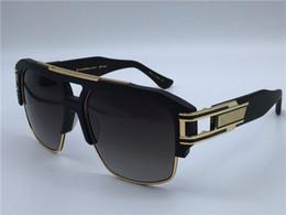 Wholesale Dita gafas de sol dita grandmaster cuatro K oro plateado cuadrado plano top marco titanio retro steampunk estilo hombres marca diseñador negro puente