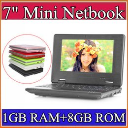 Wholesale 7 inch Mini Netbook VIA GB RAM GB ROM Android Windows CE7 Notebook WiFi HDMI Webcam Laptop A BJ