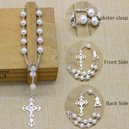 Wholesale 50pcs New High Quality mm Pearl Imitation Glass Beads Mini Rosary Baptism Gift Favor