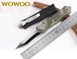 Couleurs Wowoo MICROTECH Smal Troodon zinc en alliage d'aluminium Poignée Micro Outils de coupe 616 bord unique Curve tanto Lame de couteau de chasse Camping à partir de outil de coupe incurvée fabricateur