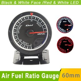 Wholesale Air Fuel Ratio D fi Gauge mm Balck Face D fi CR Advance air fuel Auto Gauge Car Meter White Red LED Air Ratio Fuel Gauges