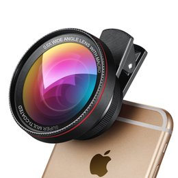 Wholesale Professional HD Camera Lens Kit X Super Wide Angle Lens X Macro Lens Universal Cell Phone Lens for iPhone Samsung etc