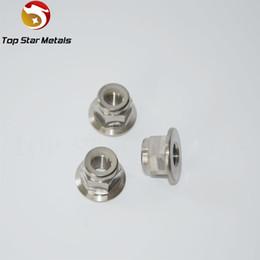 Good quality Grade5 Titanium alloy Titanium Flanged Nylock Nut Race Spec