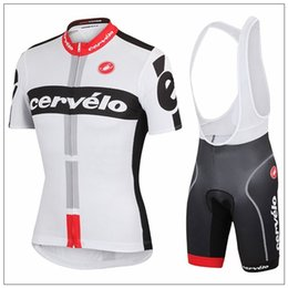 Wholesale Cervelo Cycling Jerseys Short Sleeve With Comfortable Padded Bib Trouseres Men Summer Cycling Skinsuit White Bike Wear XS XL Can Mix