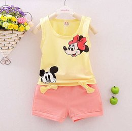 2016 summer new styler kids baby girls and boys sets pure cotton waistcoats and pants four colors 1-7 years baby suits.