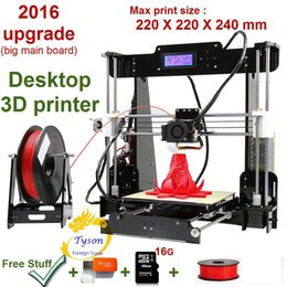 Wholesale Pro New Upgrade desktop D Printer Prusa i5 Size mm Acrylic Frame LCD Kg Filament G TF Card for gift big main board