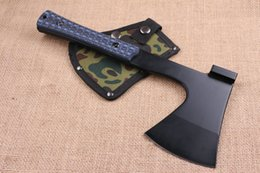 Wholesale 2016 New Arrival AXE C HRC Black Blade G10 Handle Outdoor Camping Hiking Hunting Survival Equipment Ourdoor Survival Gear