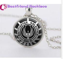 Wholesale jade pendant pendants jewelry pearls jewelry Battlestar Galactica silver movie necklace for women men Jewelry T25 mens crosses druzy