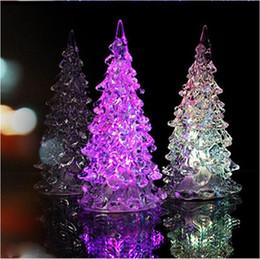 Wholesale Super Beautiful Mini Acrylic Icy Crystal Color Changing LED Lamp Light Decoration Christmas Tree Gift LED Desk Decor Table Lamp Light