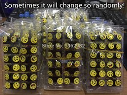 Wholesale pairs Round Yellow Happy Face Emoji Earrings Cute Funny Smiley Stud Earrings Christmas Gift ME56