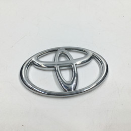 7 Sizes Chrome ABS Front Hood Badge Emblem Rear Car Logo Sicker For Toyota Corolla Vios Reiz Yaris Camry Rav4 Aurion