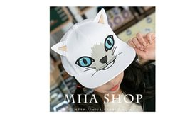 New summer hiphop snapback Hat wholesale Korean Zhao Minying cat flat hat along the cap street dance Cap Hat Street tide men and women hat