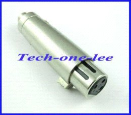 Wholesale XLR female connector to RCA Jack Mic Amp Adapter Metal female connector female xlr connector