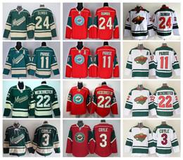 Wholesale 2016 Ice Hockey Jerseys Minnesota Wild Zach Parise Jersey Green Red White Nino Niederreiter Matt Mathew Dumba Charlie Coyle