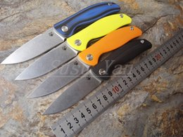 Wholesale Shirogorov F3 Bearing system Floding knife A variety of styles D2 blade colors G10 handle outdoor survival hunting camping tool OEM