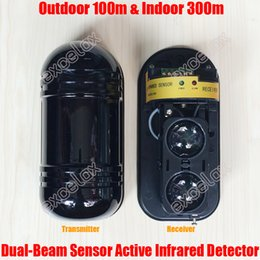 Wholesale Photoelectric Dual Beam Sensor Active Infrared Intrusion Detector IR m Outdoor Perimeter Wall Barrier Fence Motion Alarm