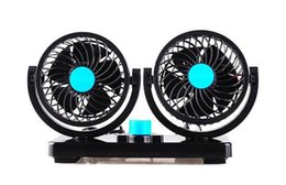 Wholesale Lake Xin Double Headed Storm Car Electric Fan Truck Fan Van Fan Degree Gale Comprehensive