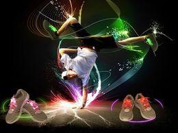 Acheter en ligne Discothèque clignotant conduit-2016 nouvelle HOT ceinture LED clignotante jusqu'à ceinture shoelace Clignotant Disco Party Fun Glow Lacets Chaussures conduit bandelettes conduit bras bandelette