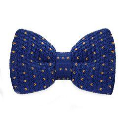 Men's Blue Bow Tie Tuxedo Adjustable Party Casual Stylish Fashion Bow Tie Gift Box Men's Fashion Accessories F-338