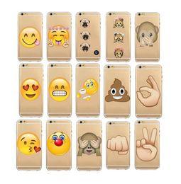 2017 cas transparents pour iphone 4s Emoji TPU souple Crystal Clear Cases Transparent QQ Cartoon 3D sourire Cas Defender Jelly pour iPhone 4 4s 5 5s 6 6s, plus 2016 Fashion abordable cas transparents pour iphone 4s