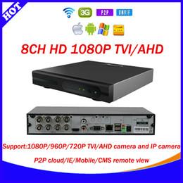Wholesale 8ch p TVI cctv video surveillance camera security system Hybrid AHD DVR NVR in Video Recorder For TVI AHD Analog IP Camera E SEENET