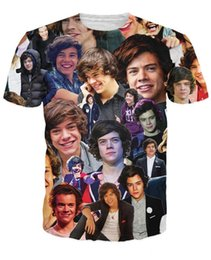 Wholesale UK USA Harry Styles One Direction D where we are tour Women Mens T shirt Vintage Tee Print Famous Brand Plus Size New Fashion