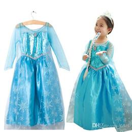 Wholesale Hot Frozen Dress Elsa Anna For Girl Princess Cosplay Dresses Cartoon Girls Children Clothes Kids best gift
