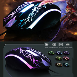 Wholesale Cool flash game sports mouse usb wired mouse fashion glare