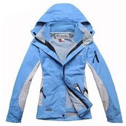 Fashion woman outdoor sports Jackets warm ski suit 2in1 Outdoor sports mountaineering jacket
