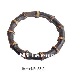 High quality unique handmade real black bamboo root bangle bracelet