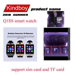Nouveaux écrans de téléphone à vendre-nouvelle Smart Watch Q18S Bluetooth écran courbe Wearable Quality Support Smartwatch High Touch pour Android et IOS Téléphone Wristwatch VS q18 apro