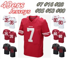 Wholesale 2016 ers Men s Elite KAEPERNICK MONTANA HYDE REID BOWMAN RICE Home Away Football Jerseys High Quality Stitched Wear