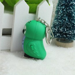 Wholesale New design Cute Novelty Gifts rechargeable led torch light for Kids Keychain light steel frame house