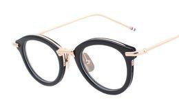 Brand Glasses-HOT SALE!2016 glasses eyewear women men fashion retro metal glasses frame eye glasses spectacles TB011 TB-011A High quality