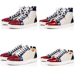 Wholesale France Luxury Designer Brand Men Women Red Bottom Sneaker Shoes Fashion Spikes Flat Lou Fashion Outdoor Sneakers Party TRAINERS